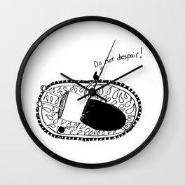 Do Not Despair Girl Wall Clock