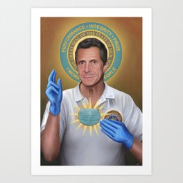 Our Savior Andrew Cuomo Art Print