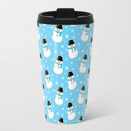 Christmas Snowman Cookies Travel Mug