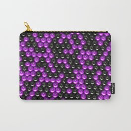 Pattern of black and purple spheres Carry-All Pouch
