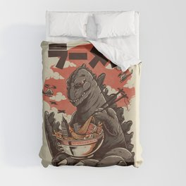 Kaiju's Ramen Duvet Cover