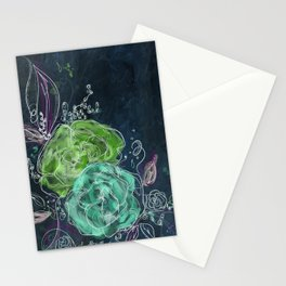 Midnight Dreams - Floral Art Stationery Cards