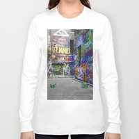 melbourne Long Sleeve T-shirts featuring Melbourne Graffiti by Another Alex