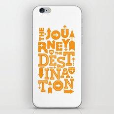 Orange Type Journey Quote  iPhone & iPod Skin