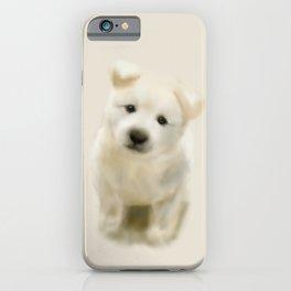 Jindo puppy re iPhone Case