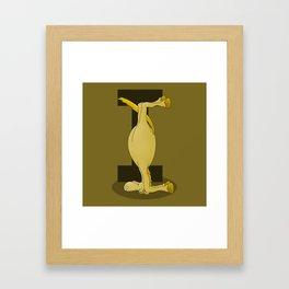 Pony Monogram Letter I Framed Art Print