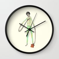 office Wall Clocks featuring OFFICE WORKER by auntikatar