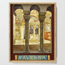 Vintage Ravenna Italy Travel Serving Tray