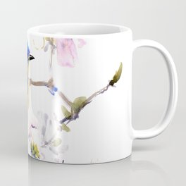 Bluebird and Dogwood, bird and flowers spring colors spring bird songbird design Coffee Mug