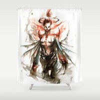 ghost Shower Curtains featuring GHOST by AkiMao