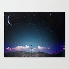 Palms in Space Canvas Print