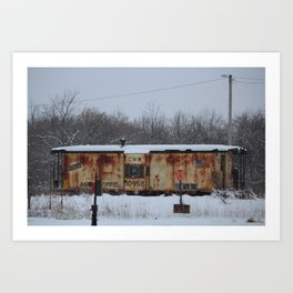 CNW Caboose in Winter Art Print