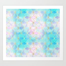 Iridescent Glass Geometric Pattern Art Print