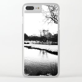 Reflection in the snow Clear iPhone Case
