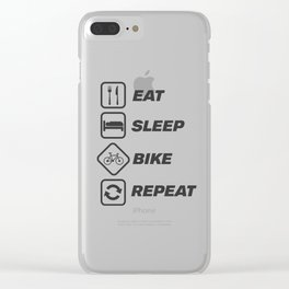 Bicycle Bike fixie gift gym sport bmx to bike Clear iPhone Case