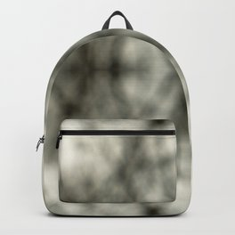 Abstract Branch Mood- Black & White Tie Dye - Natural Neutral Backpack