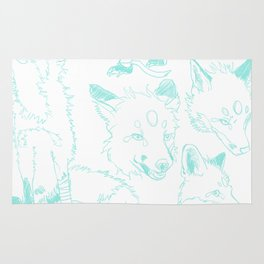 Lord Fox character design, pencil Rug