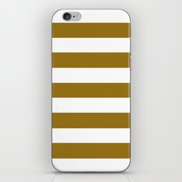 Drab - solid color - white stripes pattern iPhone Skin