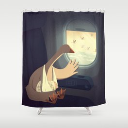 Hello, Goodbye Shower Curtain