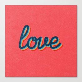 Love - pink version Canvas Print
