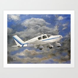 Soaring, Piper Cherokee Airplane Art Print