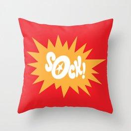 SOCK! Throw Pillow