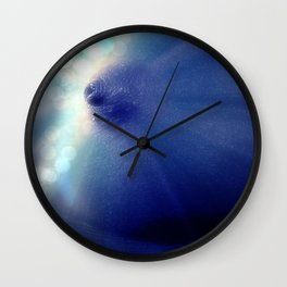 Magnificent Breast Blue Bokeh Sparkle Wall Clock