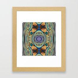 Fall inspired abstract Framed Art Print