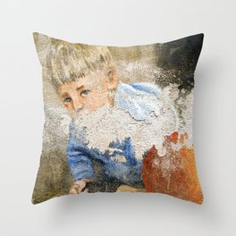 Murales in Flussio on the Isle of Sardinia Throw Pillow