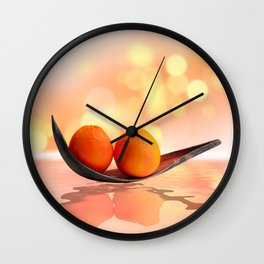 Orange magic Wall Clock