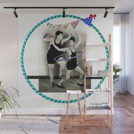 Laurel & Hardy Hoopdancing while Bird Balancing Wall Mural