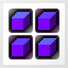 Cube x 4 = Art Print