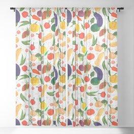 Veggie fest Sheer Curtain
