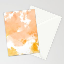 Orange and Gold Watercolor Tie Dye Design Stationery Cards