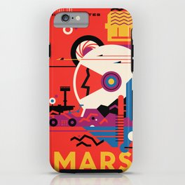 NASA Retro Space Travel Poster #9 Mars iPhone Case
