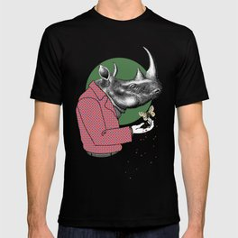 Cool Dude Rhino and Butterfly T-shirt