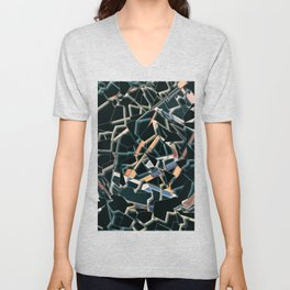 Abstract Geometric Dispersion Unisex V-Neck
