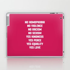 No Homophobia Quote Laptop & iPad Skin