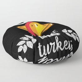 Im The Big Turkey Face Thanksgiving Custome Party Floor Pillow