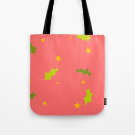 Stars and Holly Tote Bag