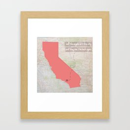 [Los] Angels Left This City // California Framed Art Print