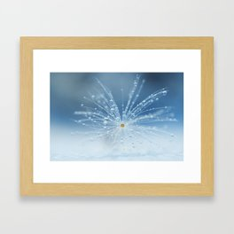 Star of drops Framed Art Print