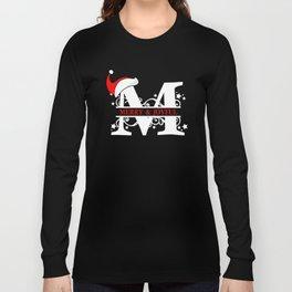 Christmas Monogram M Long Sleeve T-shirt