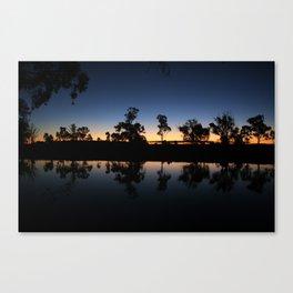 River Sunset. Canvas Print