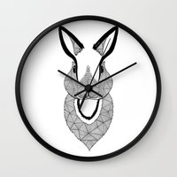 rabbit Wall Clocks featuring Rabbit by Art & Be