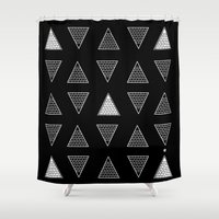 triangle Shower Curtains featuring Triangle by Emmanuelle Ly