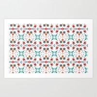 Hungarian Floral Pattern Art Print