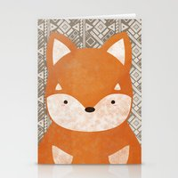 shiba inu Stationery Cards featuring Cute Shiba Inu by Goodnight Silver