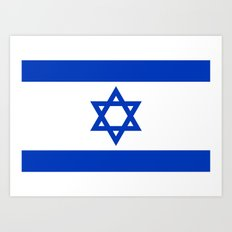 National flag of Israel Art Print