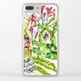 Mediterra Cactus Clear iPhone Case